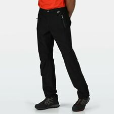 REGATTA MENS HIGHTON STRETCH WATERPROOF BREATHABLE OVER TROUSERS BLACK RMW325
