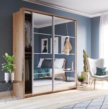 Brand New Modern Bedroom Sliding Mirror Wardrobe Arti 17 Shetland Oak 180cm
