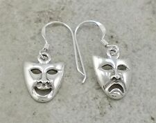UNIQUE .925 STERLING SILVER COMEDY TRAGEDY EARRINGS  style# e0804