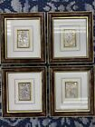 MIDA'S MADE IN ITALY FRAMED SILVER .925 SCULPTURE PICTURES SET OF 4