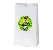 12 Ben 10 Birthday Party Favors Personalized Treat Bag Stickers