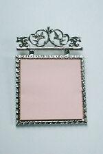 Silver Ornate Desk Post It Note Holder ~ Scrolled Vine motif