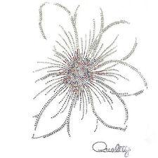 Rhinestone Transfer Hot fix Motif Fashion Design Jewellery  crystal flower Mix