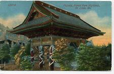 Vintage Postcard - Pagoda - St. Louis, MO - Forest Park Highlands - 1915