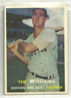 Ted Williams 1957 Topps Boston Red Sox Baseball Card #1