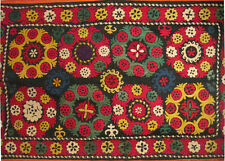 Suzani Embroidered Wall Hanging from Central Asia