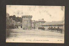 POITIERS (86) CONVOI MILITAIRE avec CANON sur Boulevard du PONT-GUILLON en 1915