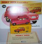 DINKY TOYS ATLAS RENAULT 4 4L R4 BRIQUE 1ère série 1/43 REF 518 in BOX