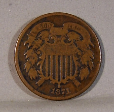 1871 TWO CENTS, Good