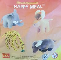 McDonalds Happy Meal Toy 1997 Endangered Animals Soft Plush Toys - Various