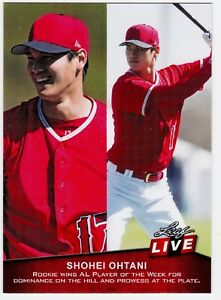 2018 Leaf Live Shohei Ohtani rookie Los Angeles Angels Card # 11