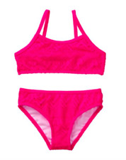 *Nwt* Gymboree Girls Szie 5-6 Hot Pink Lace Two Piece Bikini Swim Set