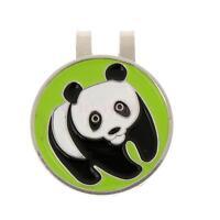 Portable Metal Panda Magnetic Golf Ball Marker + Hat Clip Golfer Gift