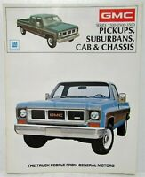 1973 GMC Trucks Pickups Suburbans and Cab & Chassis Sales Brochure