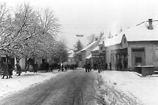 Photo. 1960-1. Slovenia. Motif from Lendava - street, snow