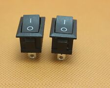 5pcs Black Rocker Switch KCD1-101 250V 6A Boatlike Switch 2PIN