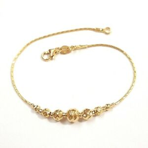 Graduated Hammered Beads BRACELET 14kt Gold Filled.  Made to your size.