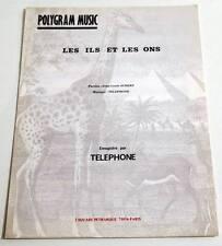 Partition sheet music TELEPHONE (AUBERT BERTIGNAC) : Les Ils et les Ons * 80's
