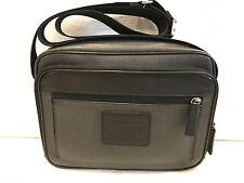 Pre-owned! Coach Medium Charcoal / Black Men's Flight Case Crossbody Bag F71409