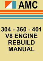 AMC 304, 360, 401 V8 ENGINE REBUILD MANUAL
