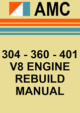 AMC 304, 360, 401 V8 ENGINE REBUILD MANUAL