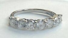 1.20ct Natural Diamond Half Eternity 18ct White Gold Ring