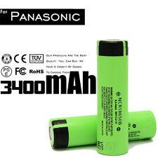 2X NEW PANASONIC NCR18650B LI-ION BATTERY 3400mAh 3.7v 18650  JAPAN