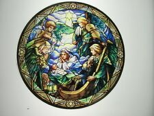 Glassmasters Nativity Scene by Louis C. Tiffany  6.5 inches