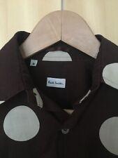 Paul Smith Bold Polka Dot Light Cotton Shirt - size S/brown+white/good condition