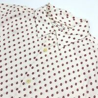 NEW AllSaints Men's KAPOW Button-Down Shirt Short Sleeve Off-White • Size XS