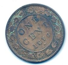 CANADA, 1876 H, 1c, Large Penny, Queen Victoria (COIN, MONEY, COLLECTIBLE) a