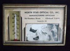 North Star Optical Co. Advertising Metal Framed Picture Thermometer