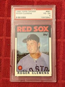 1986 Toppd Tiffany Card #661 Rogee Clemens PSA 4
