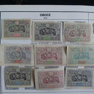 """C#  Rep. Of France """" OBOCK"""" Stamp Lot"""