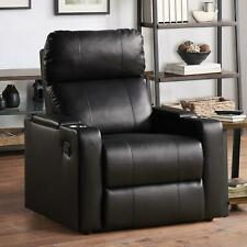 Mainstays Home Theater Recliner with USB charging ports and In-Arm Storage Black