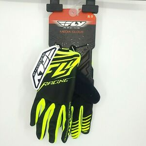 Fly Racing Media Glove Mens Size XL 11 Yellow, Black New with tags