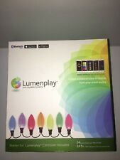 (2) LUMENPLAY APP ENABLED C9 LED HOLIDAY CHRISTMAS LIGHTS STARTER SET BLUETOOTH