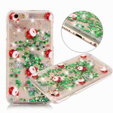 Christmas Glitter Quicksand Hard Clear Case Cover For iPhone X 6s 7 8 Plus 5 SE