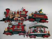 New Bright Holiday Express Animated Joy To All Train (4) Pieces NO TRACKS OR BOX