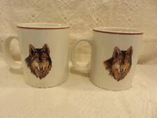 Tienshan Wolf Coffee Mugs Stoneware Made In China Double Sided Wolf Pattern (2)