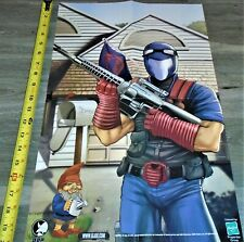 GI Joe 2004 Hasbro POSTER 20 X 13 (Image Comics) Cobra Viper / Flint & Baroness
