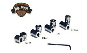 RE-USEABLE CHROME-PLATED BRASS MOTORCYCLE SPOKE WHEEL WEIGHTS BY NO-MAR 8-PC Kit