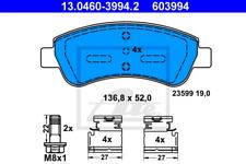 Bremsbelagsatz, Scheibenbremse für Bremsanlage Vorderachse ATE 13.0460-3994.2