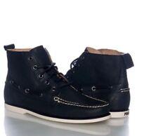POLO RALPH LAUREN Barrott Calf Leather Black Men's Ankle Boots Size 9.5 D