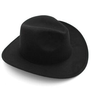 Kids Boys Girls Felt Cowboy Hat Wool Blend Children Western Cowgirl Cap Size XS