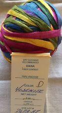 ONE Unused Ball Prism Yarn Diana Color Yosemite 2oz 55yds USA Made 100% Viscose