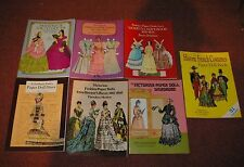 7  Early Fashion related Paper Doll Books Unused 1980's-1990's   Fun Lot!