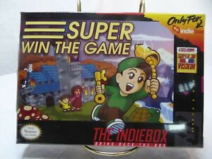 Limited Edition Super Win the Game Indie box with unused Steam Key #165 of 1250