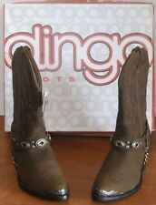 Dingo Black & Brown Fashion Cowboy Boots