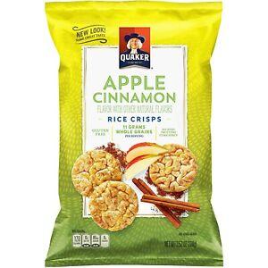 Quaker Rice Crisps Apple Cinnamon 3.52oz Bag, Pack of 4 (or 2 - 7 oz bags)